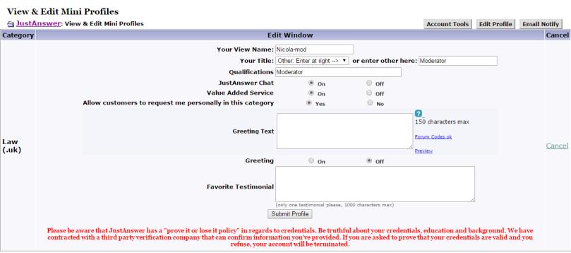 Mini_Profiles_configuration